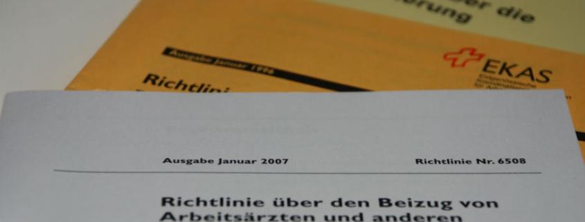 MPS Betriebssicherheit gesetzliche Grundlagen EKAS 6508