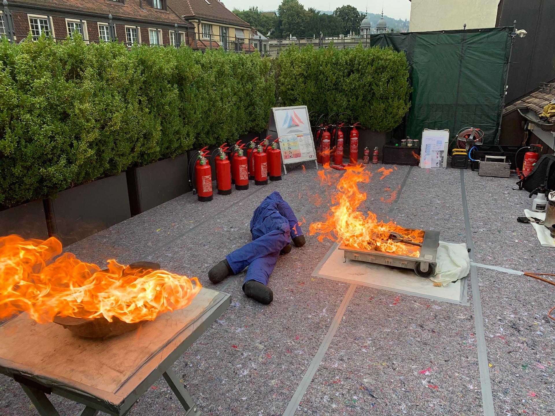 Brandschutzkurs Feuerlöschtraining